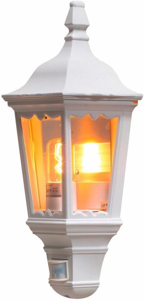 KONSTSMIDE LED Außen-Wandleuchte »FIRENZE«, Außenleuchte für die Wandbefestigung | Lampen > Aussenlampen > Wandleuchten | Weiß | Aluminium - Glas | KONSTSMIDE