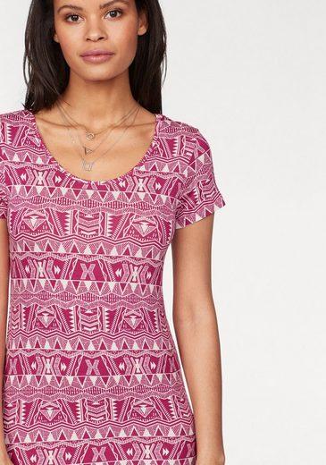 KangaROOS Jerseykleid, im Ethno-Ikat-Print