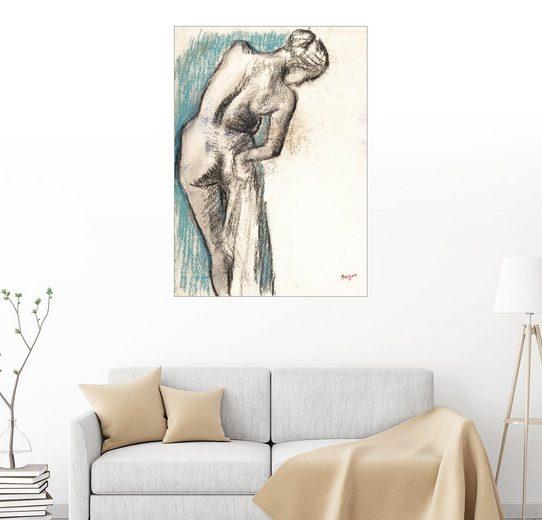 Posterlounge Wandbild - Edgar Degas »Badende trocknet sich ab«