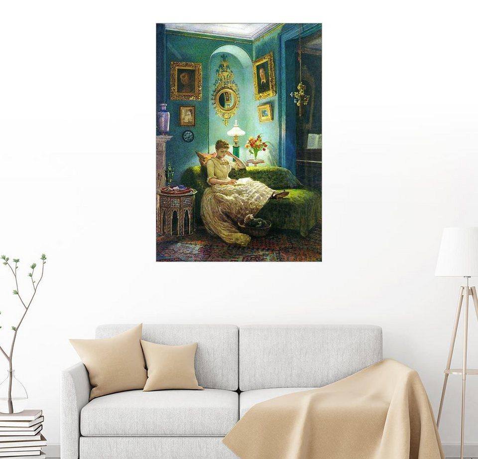 posterlounge wandbild sir edward john poynter ein abend zu hause online kaufen otto. Black Bedroom Furniture Sets. Home Design Ideas