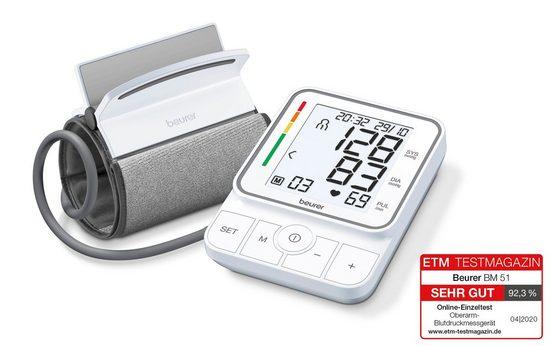 BEURER Oberarm-Blutdruckmessgerät BM 51 easyClip