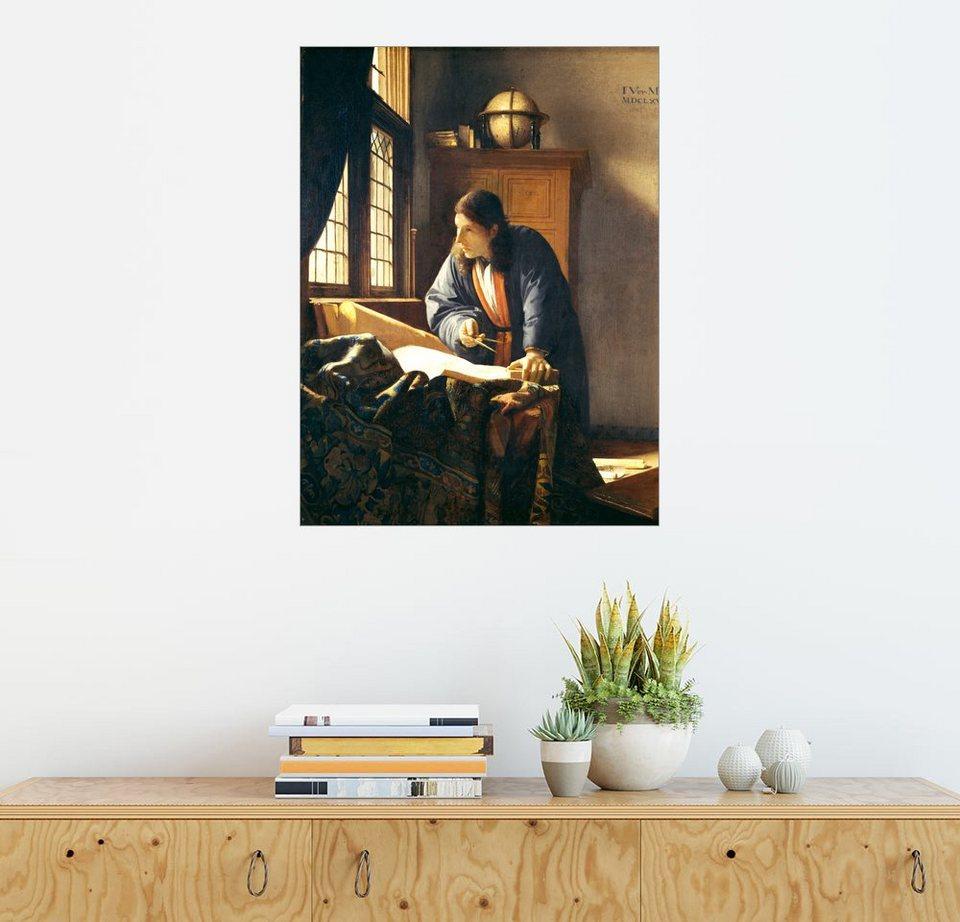 posterlounge wandbild jan vermeer der geograph otto. Black Bedroom Furniture Sets. Home Design Ideas