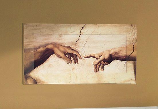 Home affaire Wandbild »Hände«, von Michelangelo, 100/50 cm