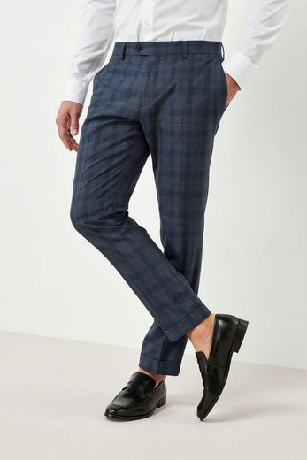 Next Skinny Fit Suit With Check Pattern: Hose