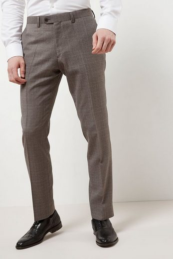 Next Slim-Fit-Anzug mit Karomuster: Hose