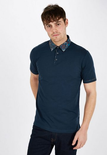 Next Polo Shirt With Webkragen With Paisley Pattern