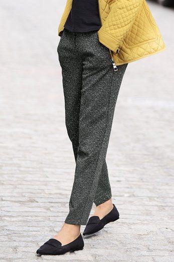 Next Texturierte Jersey-Hose mit schmal zulaufendem Bein