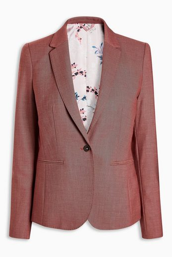 Next Breasted Sharkskin-blazer