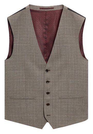 Next Slim-Fit-Anzug mit Karomuster: Weste