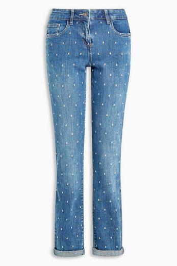 Next Legere Skinny-Jeans mit Stickereien