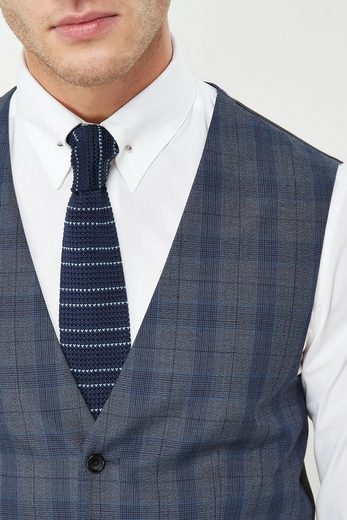 Next Skinny Fit-Anzug mit Karomuster: Weste
