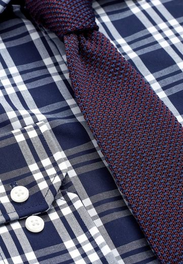 Next Kariertes Slim-Fit Hemd mit Krawatte im Set