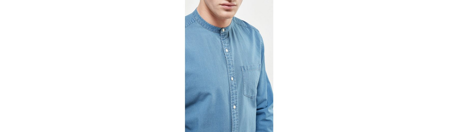 Next Langärmeliges Grandad-Shirt mit Textur Rabatt Breite Palette Von Ce8pl