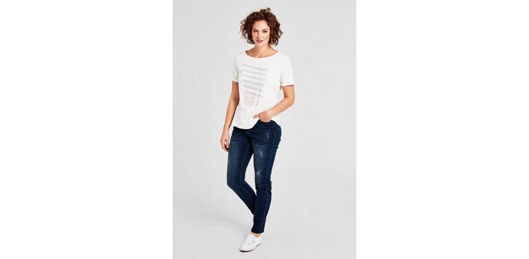 TRIANGLE T-Shirt mit Metallic-Print Rabatt Beste Preise Günstig Kaufen Finden Große Online Einkaufen Outlet Rabatt s1VTU6BH