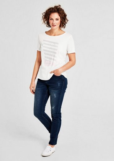 TRIANGLE T-Shirt mit Metallic-Print