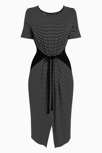 Next Gestreiftes Kleid mit Tunnelzug