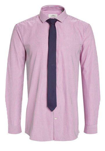 Prochaine Chemise Rayée Coupe Slim Avec Cravate