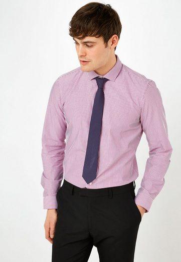 Next Gestreiftes Slim-Fit-Hemd mit Krawatte im Set