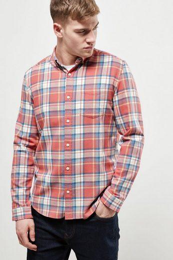 Next Langärmeliges Hemd mit Karomuster in Washed-Optik