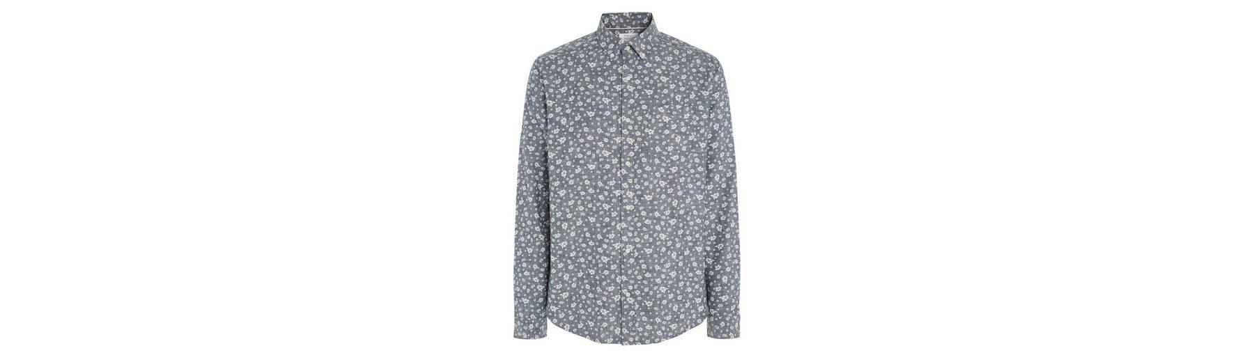 Next Langarmhemd mit Chambray-Print Billig Verkauf Besuch Neu Erhalten Authentisch Günstigen Preis Mode Günstig Online 9ovyQEMq