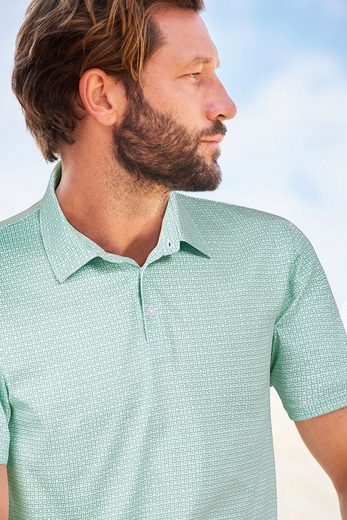 Next Polo Shirt With Small Geometric Pattern