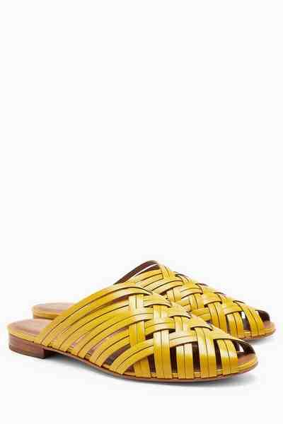 Next Pantoletten im Loafer-Stil aus Leder mit Webmuster