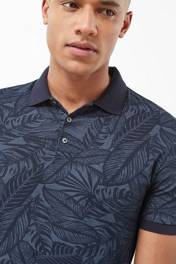 Next High-quality Polo Shirt With Leaves Print
