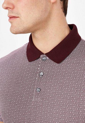 Next Poloshirt mit geometrischem Blumenmuster
