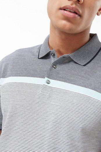 Next Hochwertiges Poloshirt mit Aqua-Streifen auf der Brust