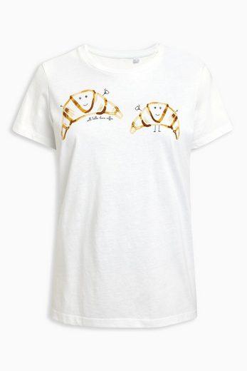 Next T-Shirt mit Schriftzug