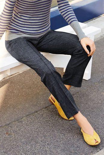Next Hose mit schmal zulaufendem Bein und Gürtel