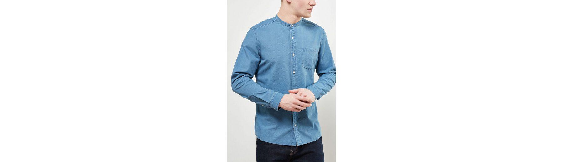 Outlet Rabatt Rabatt Breite Palette Von Next Langärmeliges Grandad-Shirt mit Textur F4Wb2K1i