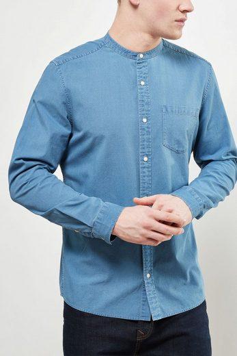 Next Langärmeliges Grandad-Shirt mit Textur