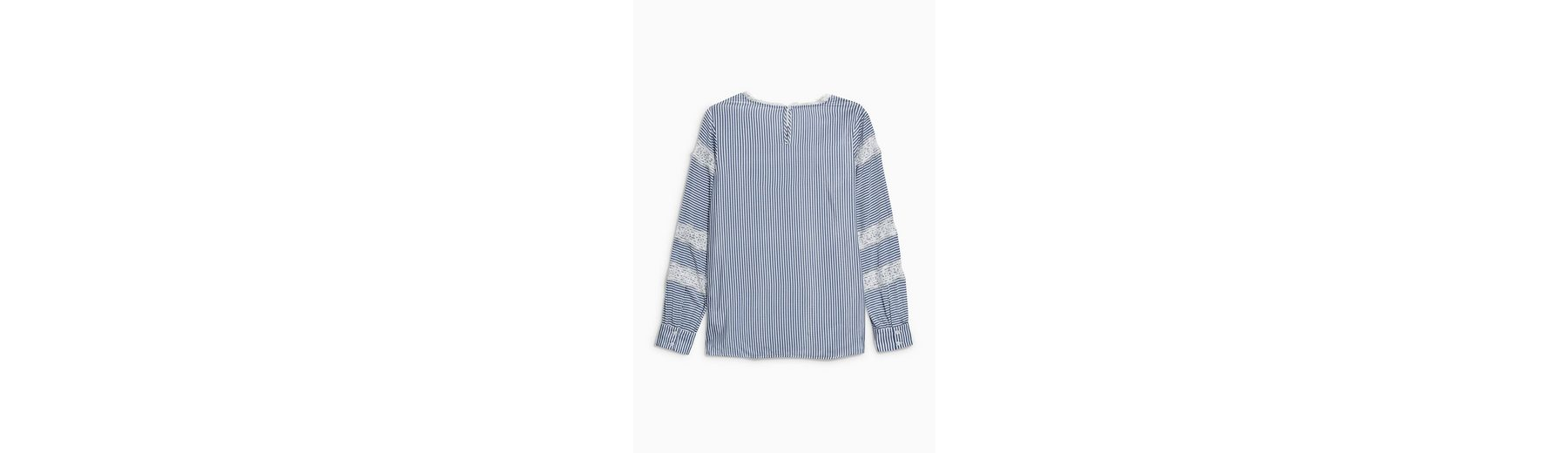 Next Gestreiftes Shirt mit Spitzeneinsatz Rabatt Großhandel ETWUQGOAKV