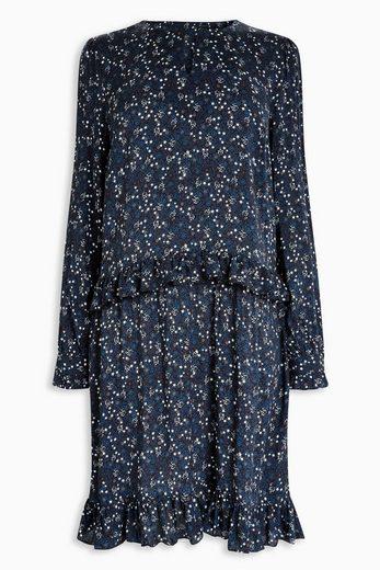 Next Langarm-Kleid mit ausgestelltem Saum und Rüschen