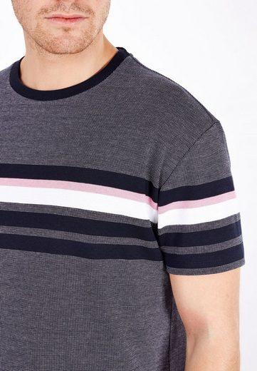 Next Jacquard T-Shirt mit Streifen