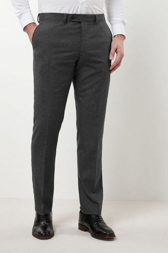 Next Structured Slim-fit Trousers With Flat Front