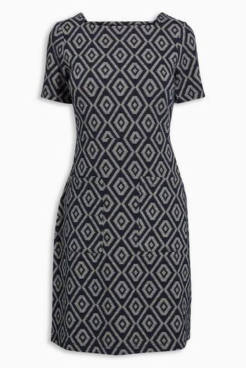 Next Jacquard-Kleid mit eckigem Ausschnitt