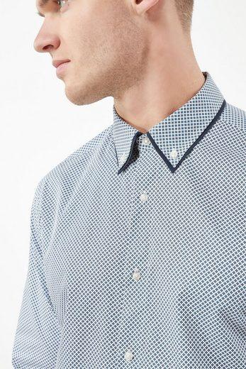 Next Bedrucktes Hemd mit Doppelkragen