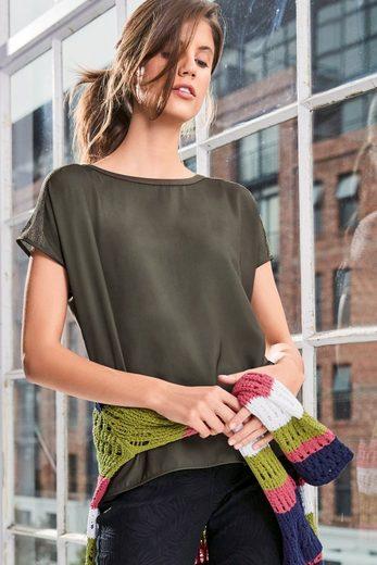 Next Pullover mit gewebtem Vorderteil