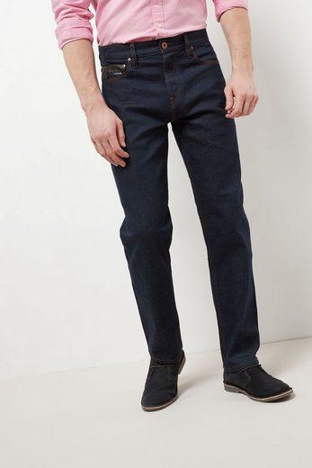 Next Jeans mit Lederbesatz