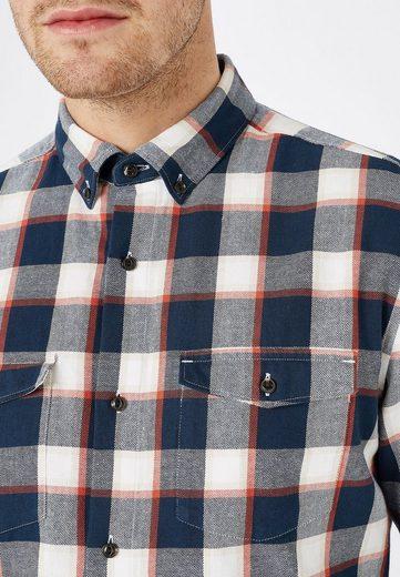 Next Hemd mit angerauter Oberfläche und Karomuster