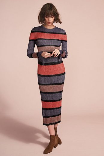 Next Geripptes Kleid mit Streifen