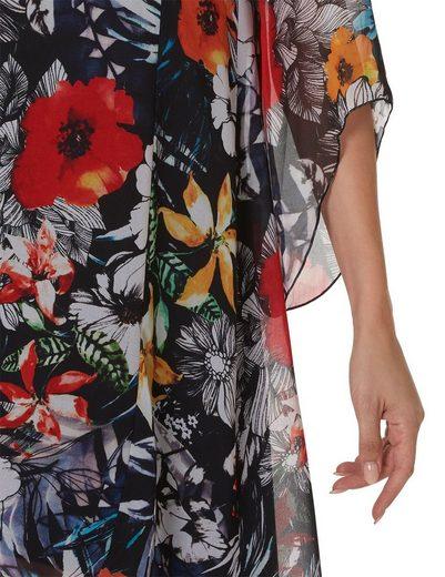 Betty Barclay Florales Kleid mit Trompetenärmeln