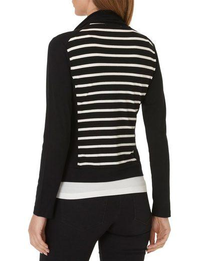 Betty Barclay Shirtjacke mit Streifen und Pailletten