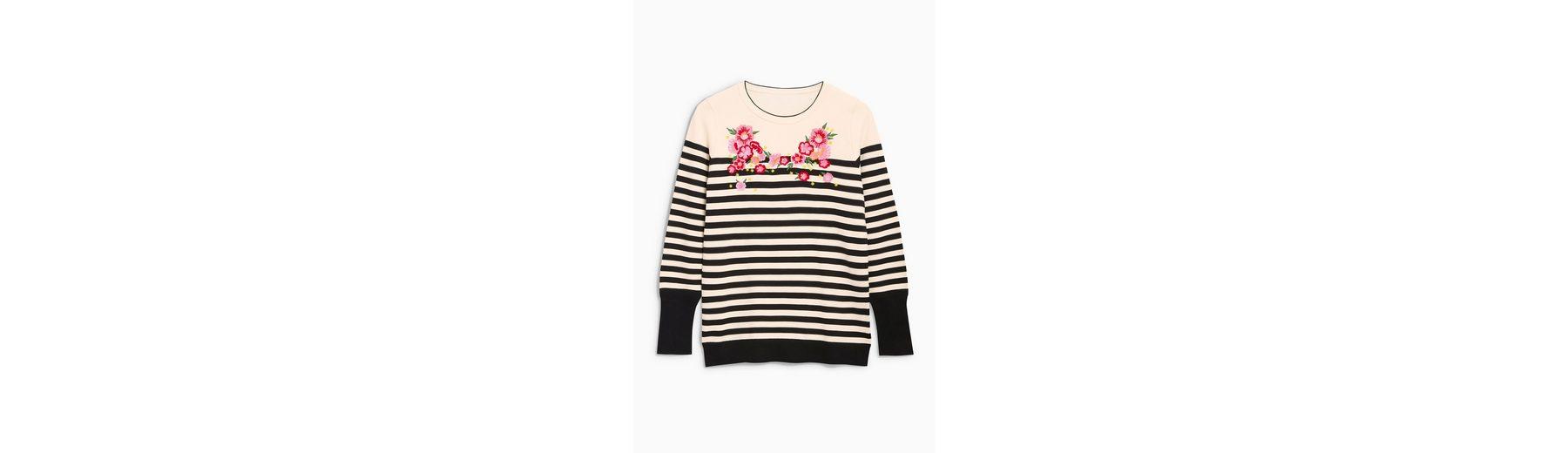 Next Pullover mit Streifen und Stickdetails  Verkaufsschlager yr3Bv