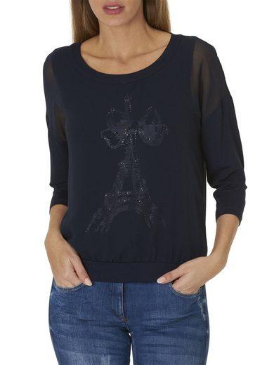 Betty Barclay Shirt mit Print und Strasssteinen