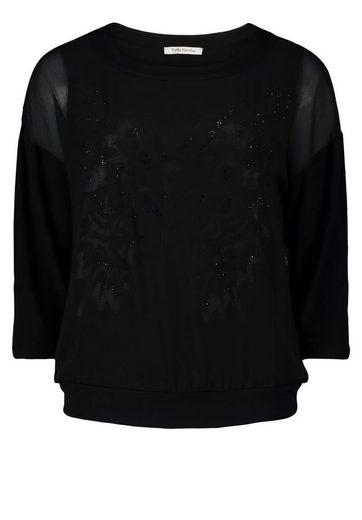 Betty Barclay Shirt Materialmix And Plaziertem Butterfly Print