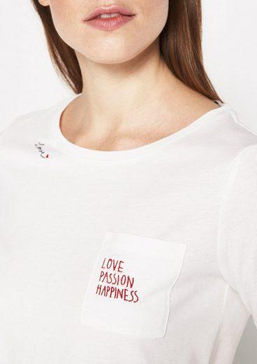 COMMA Jersey-Kurzarmshirt mit Brusttasche