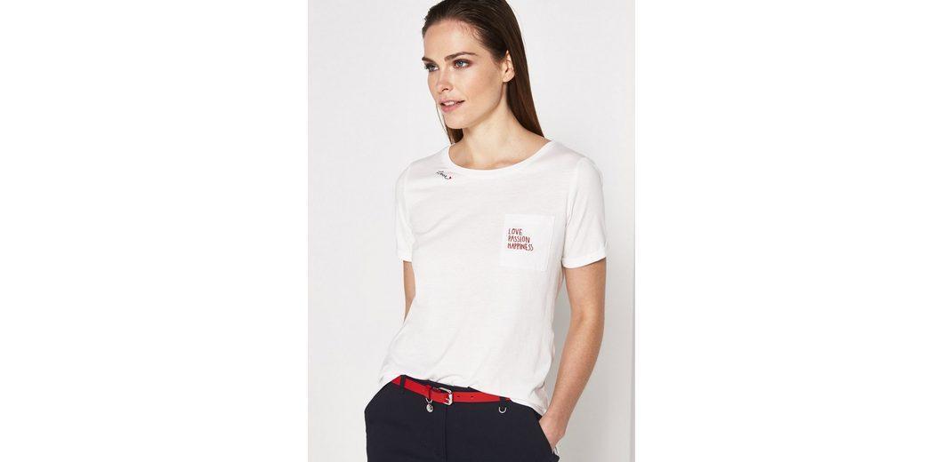 COMMA Jersey-Kurzarmshirt mit Brusttasche Billig Kaufen Bestellen sNoIPc